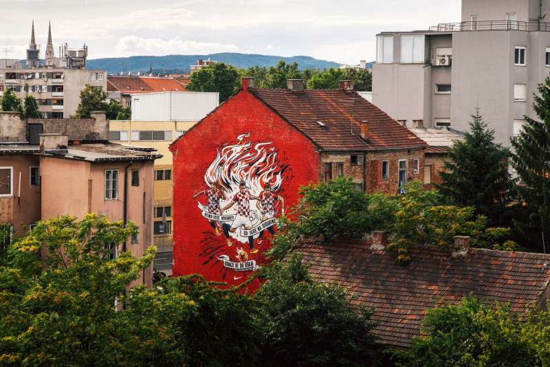Nike mural u Zagrebu